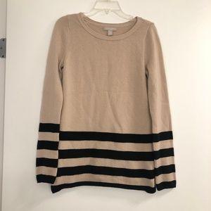 Banana Republic Tan & Black Wool Cashmere Sweater